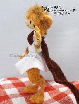 羊毛フェルト イラスト 立体 人形