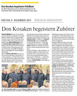 Don Kosaken begeistern Publikum