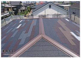 葺き替え後 加須市 屋根工事 ©2018屋根工芸 ㈱大塚興業社