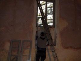 Wiedereinbau Fenster nach Restauration