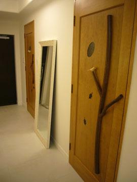 室内ドア 木製ドア 木のドア かわいい 個性的