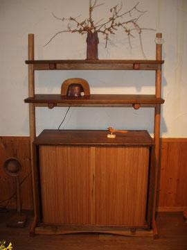 飾り棚 蛇腹 キャビネット 木の箱