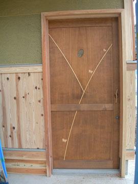 引き戸 木製玄関ドア リメイク