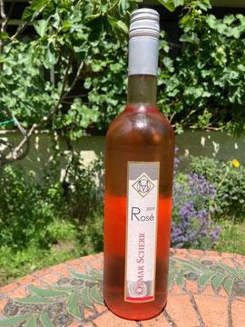 Wein der Woche: Pinot noir Rosee Spätlese trocken Birkweiler Königsgarten Pfalz. Fruchtig, frisch der ideale Terassenwein. Wein-dr-Scherr.de