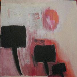 Nr. 2007-HO-014: 50 x 50 cm, Collage, Acryl auf MDF