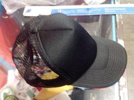 Gorra de malla color negro