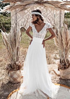 Robe de mariée Amoureuse par Fabienne Alagama bohème fluide Yvelines 78