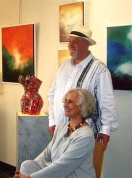 avec nicole teulière - sculpteur - 2009