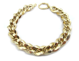 Bracciale in oro 18kt donna maglie lucide e godronate