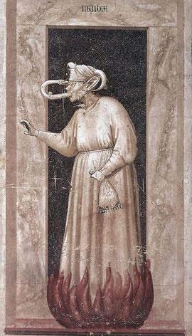 Giotto,La envidia, principios del S.XIV