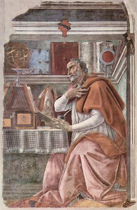 San Agustín, Sandro Botticelli,Florencia