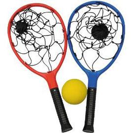 Raquettes filet. Jeu pour les activités sportives de raquettes et tennis des enfants.