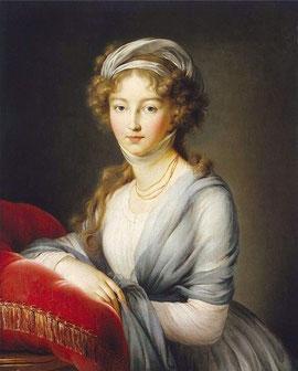 ロシア皇后エリザヴェータ・アレクセーエヴナ(ルイーゼ・マリー・アウグステ・フォン・バーデン、1799年)