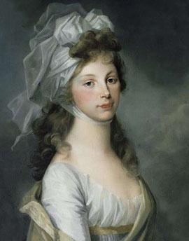 プロイセン王太子妃ルイーゼ、アンリエット・フェリシテ・タサエール作(1797年)