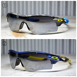 ◎フレーム:OAKLEY/RADARLOCK CUSTOM ◎レンズ:OAKLEY/BLACK IRIDIUM
