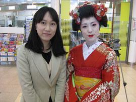 金さんと山形舞子さん@山形駅