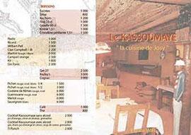 Bar restaurant sortie Mbour route de Joal - Recto format A4 avant pliage