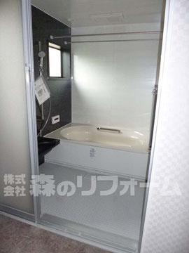 松戸市まるごとリフォーム 浴室UBリフォーム後 浴室換気乾燥を採用し雨の日でも安心です