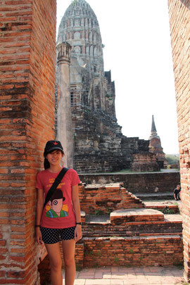 At Wat Ratchaburana in the historic city of Ayutthaya, Thailand.