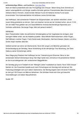 Orsoys neuer Schützenkönig heißt Sven Schmidt