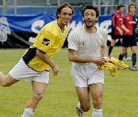 ...e festeggia il gol con Milianti