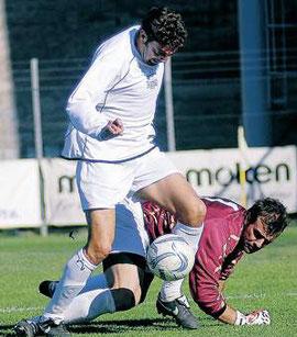 61': Lamberti salta Campana e realizza il 3° gol