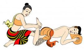 タイ古式マッサージ挿絵