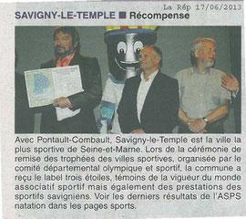 LA REP 17/06/2013 : SAVIGNY 3***
