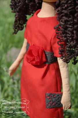 Авторская текстильная тыквоголовая куколка
