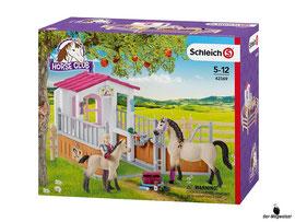 Empfehlung Schleich Pferdebox mit Arabern und Pferdepflegerin 42369