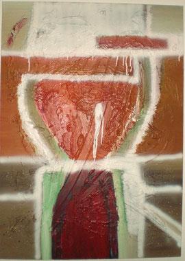 Acryl mit Spachtel auf Leinen, 150 cm x 100, 2009