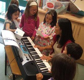 ピアノと一緒に上手に歌えたね(拡大します)