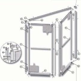 Instalación de mosquitera abatible de dos hojas de aluminio