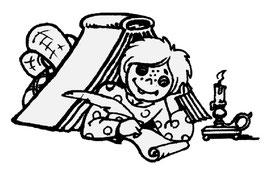 """Рис.Ю.Е. Белова """"Кузя пишет письма детям"""""""