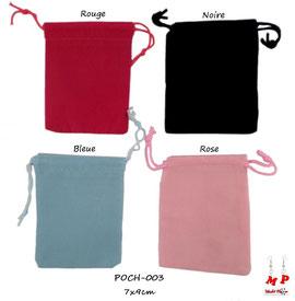 Pochettes cadeaux velours 4 couleurs