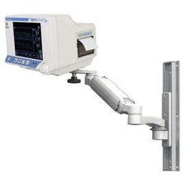 モニターアーム, ICWUSA, UL180シリーズ, ウォールマウント, プランジャープレート, 医療機器, カプノグラフィ, カプノメータ, コビディエン, CO2モニタリング