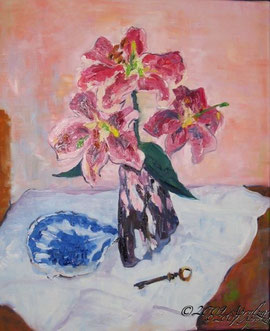 Still Life with Key, 46/38cm oil on canvas