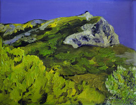 0007-la Sainte Victoire, 18/14cm oil on canvas