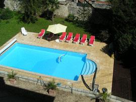 piscine chauffée des gites de Bourguignon-sous-Montbavin près de Laon
