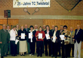 Gründungsmitglieder beim 25 jährigen Jubiläum