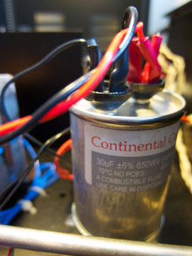 "Continental ""Type A"" oil filled capacitor"