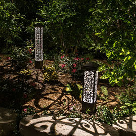 InVista Lighting Design can include low-voltage bollards in your lighting scenes as unique focal points.