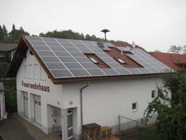 Die neu installierte Fotovoltaikanlage