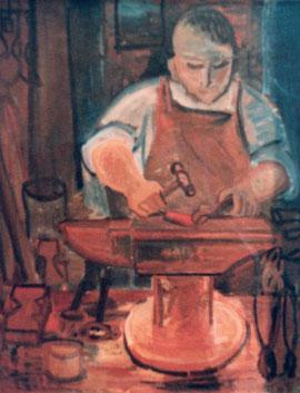 戦後の作品「鍛冶屋」題名不明