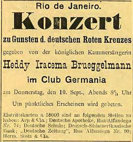 Deutsche Zeitung, Rio de Janeiro, Juni 1914