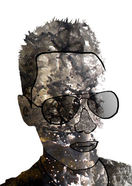 Porträt im Stil von Olly Moos