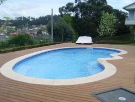 piscinas de poliester forma riñón Elipsa 8