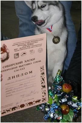 09.04.11г. - Скай получил свой 1-й диплом на монопородной выставке