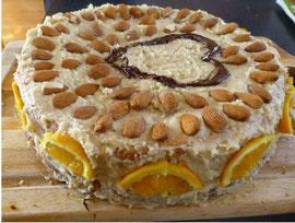 Biskuitböden mit Nuss - Orange