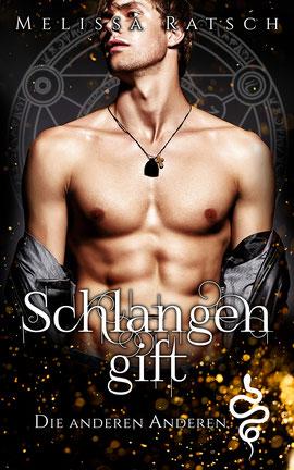 """Buchcoverbild """"Schlangengift"""", der zweite Teil der Romantik-Fantasy-Reihe """"Die anderen Anderen"""""""